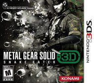 Metal Gear Solid: Snake Eater 3D Box Art