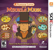 Professor Layton and the Miracle Mask Box Art