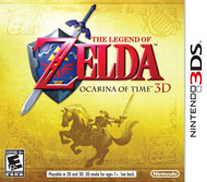The Legend of Zelda: Ocarina of Time 3DS Box Art
