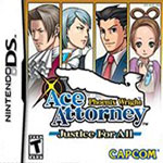 Phoenix Wright, Ace Attorney: Justice for All box art