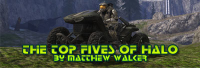 Top 5 Weapons and Vehicles of Halo article