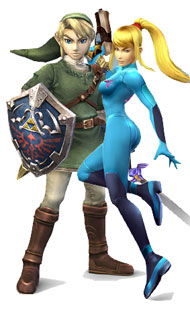 Link and Samus - Super Mario RPG