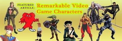 Video Game Characters article