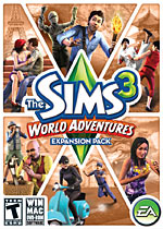 The Sims 3: World Adventures box art